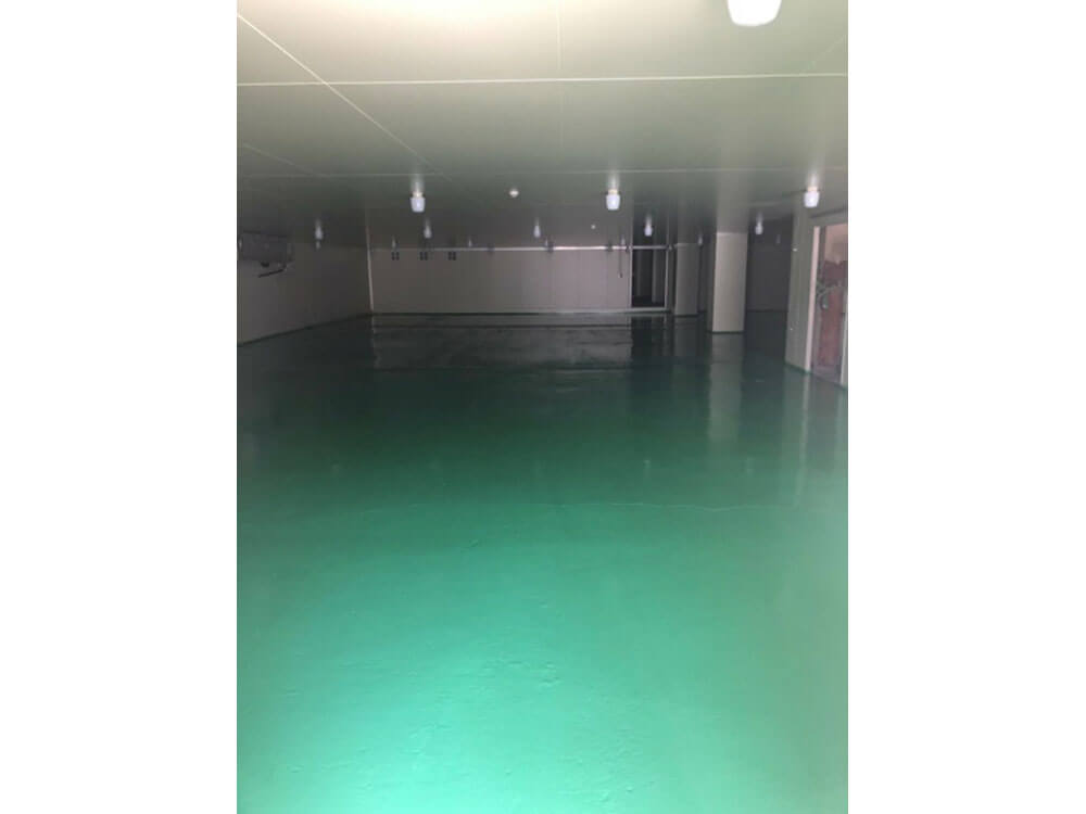 大阪府床の防塵塗装 施工後