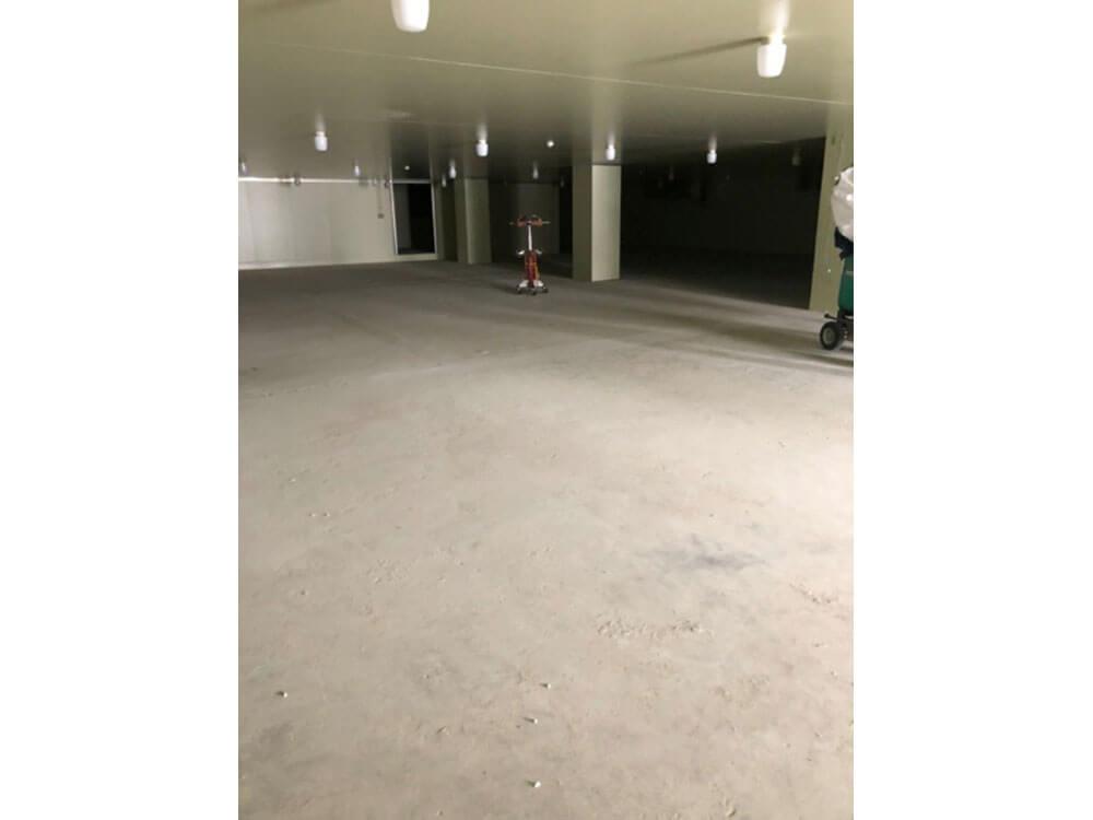 大阪府床の防塵塗装 施工前