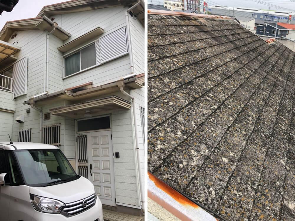 明石市S様邸外壁・屋根塗装 施工前