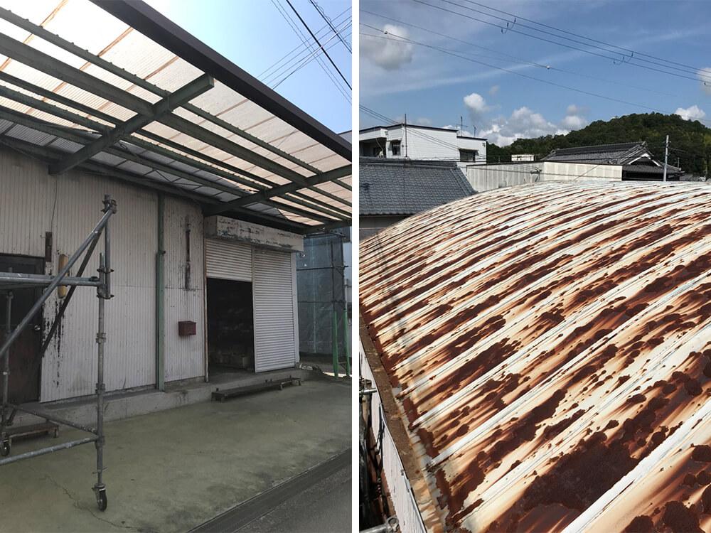 加古川市K工場様屋根・外壁塗装工事 施工前