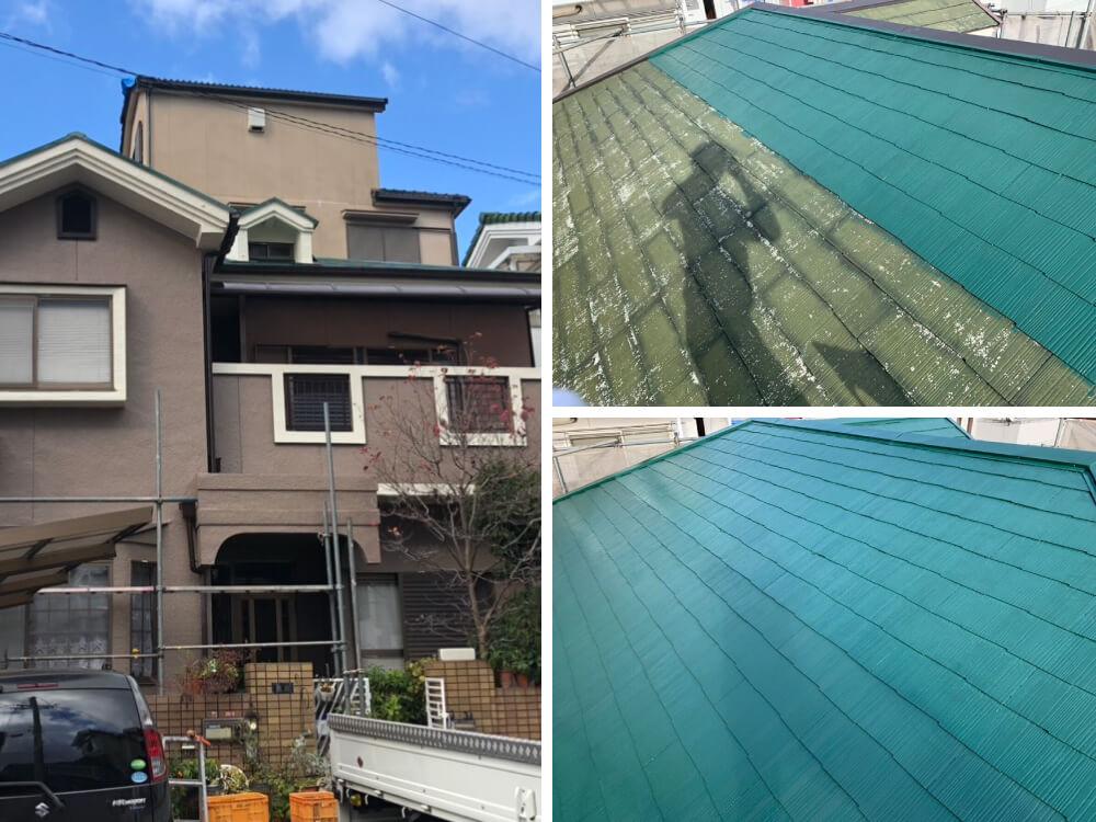 大阪府K様邸外壁・屋根塗装工事 施工後