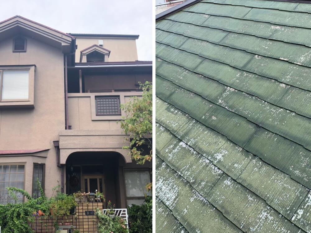 大阪府K様邸外壁・屋根塗装工事 施工前