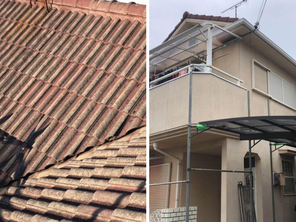 加古川市T様邸外壁・屋根塗装工事 施工前