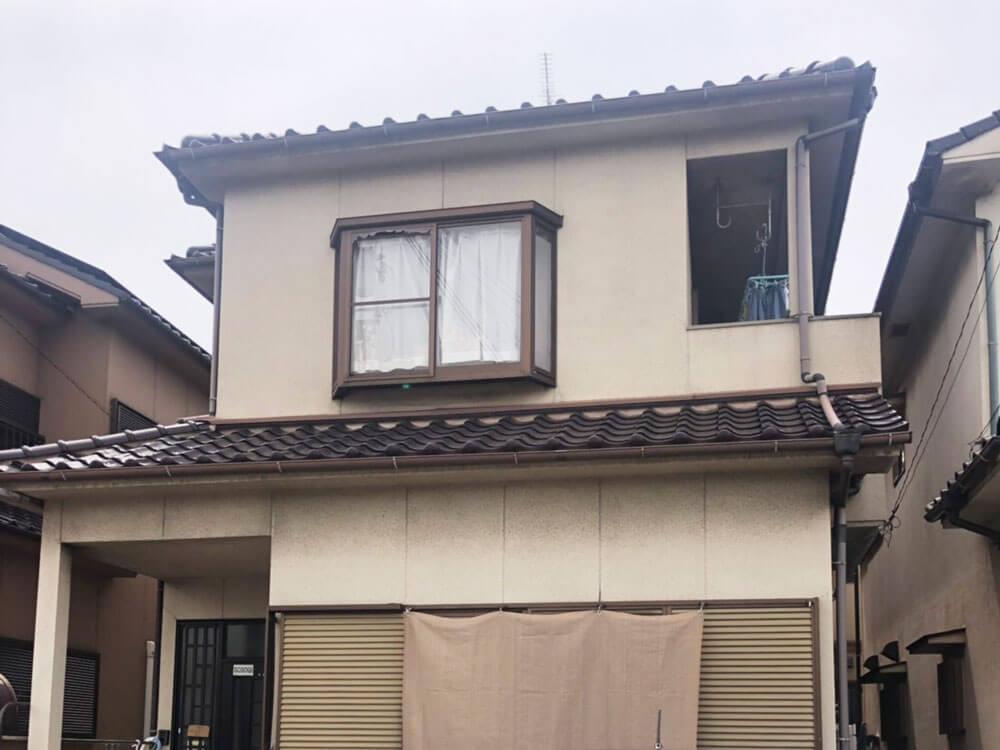 加古川市S様邸外壁塗装・雨どい交換・屋根漆喰打ちかえ 施工前